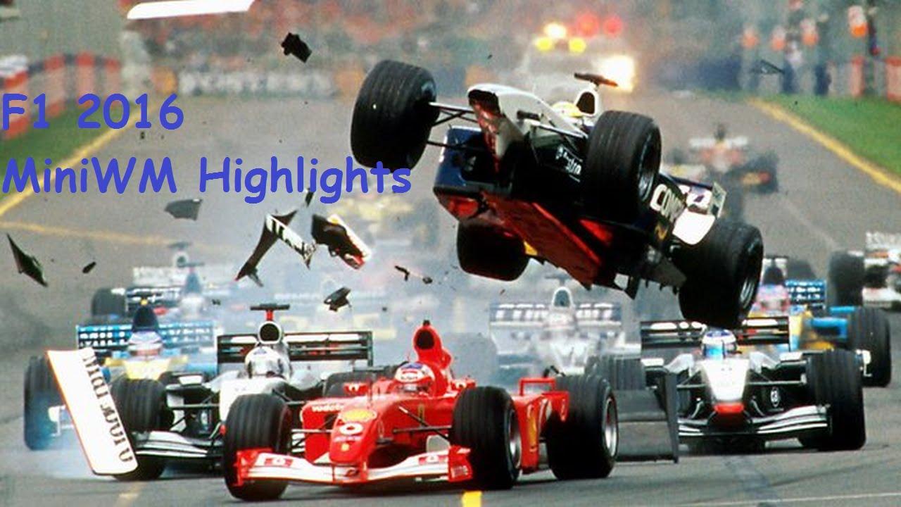 F1 2016 | MiniWM Highlights | Crashes-Tears-Fights