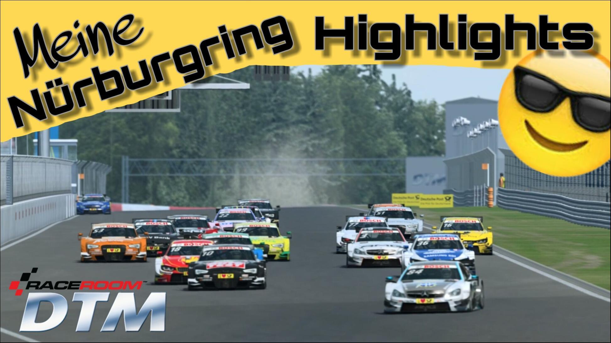 Highlights | DTM | NürburgRing | R3E RaceRooom 22.01.2017 by StrikeR