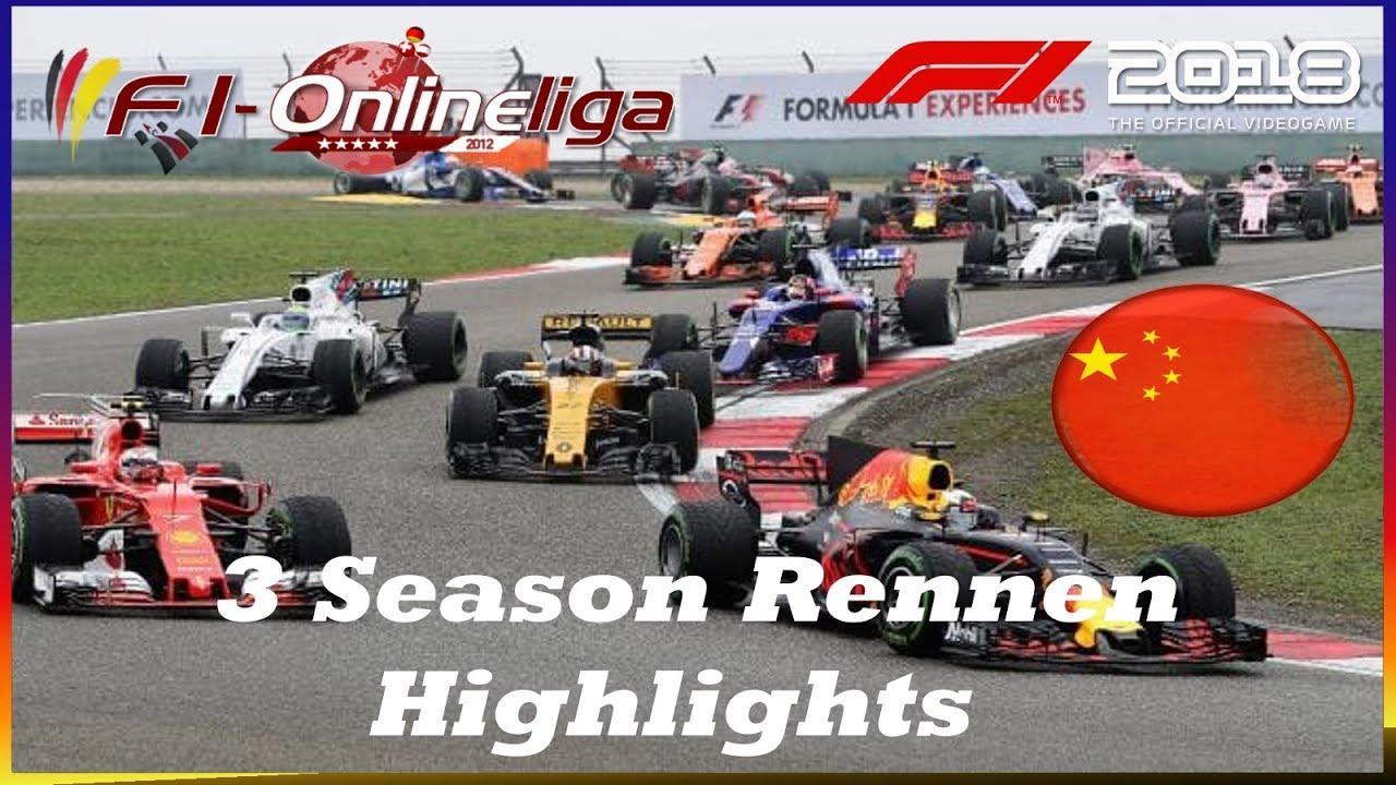 🏎3 Season Rennen/ Highlights China 🏎 F1-Onlineliga/🏎F1 2018//🏁(Deutsch/HD/PS4)