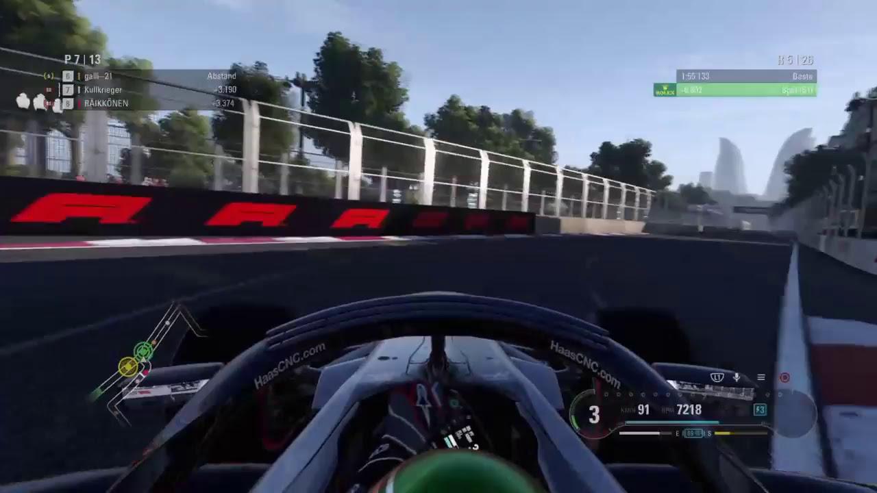 PS4 F1 2018 Koopmeisterschaft Baku GP 50% Haas