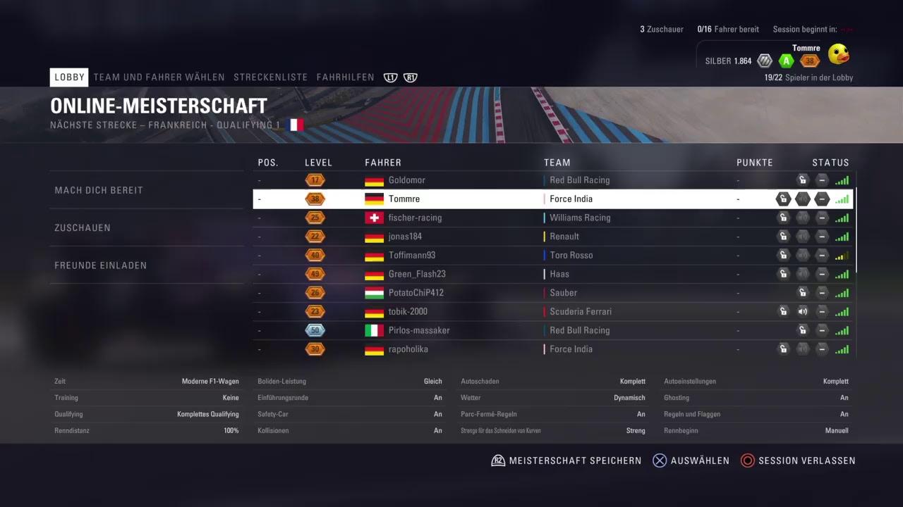 [LIVESTREAM] F1-Onlineliga Ligarennen in Monaco (F1 2018/PS4/Deutsch)