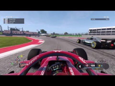F1 2018 - F1-Onlineliga SIM - Austin GP S8 R7 Highlights