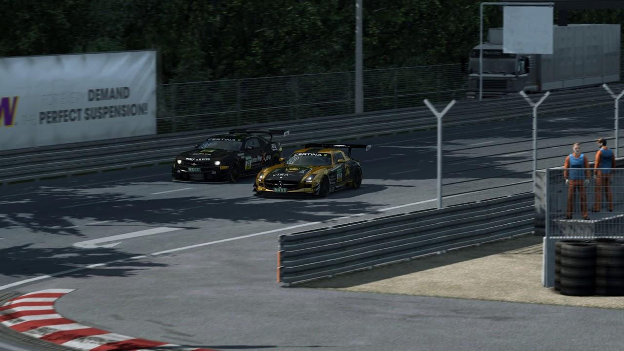 Tolles Überholmanöver auf dem Norisring GT Masters SLS