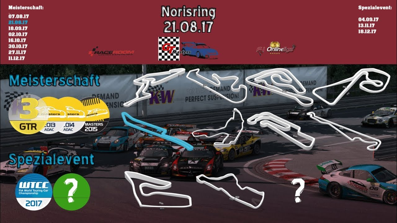 F1-Onlineliga.com / ADAC GT-Masters Season 2 - 2. Lauf Norisring / Race 1