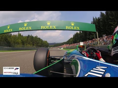 Exclusive Onboard - Mick Schumacher's Demo Lap in his father's Benetton F1 - operated by RENNWERK
