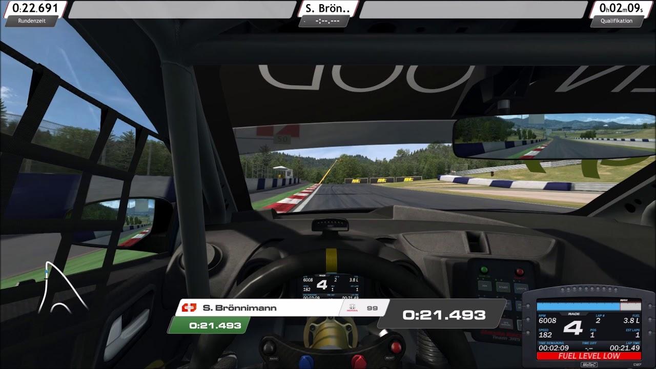 R3E WTCC Honda Civic 17 Eine schnelle Runde auf dem Red Bull Ring