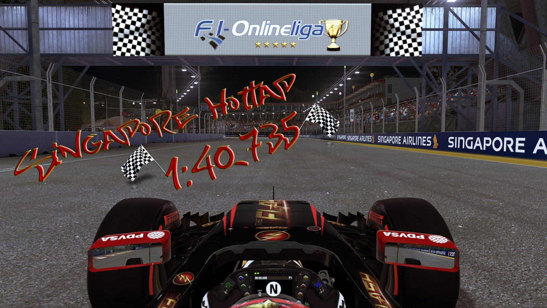 F1 2015 PC | Singapore Online Hotlap | 1:40,735 *No Assists